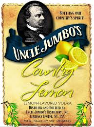 Uncle Jumbo's Country Lemon Vodka